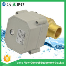 "1 ""de pulgada Dn25 de 2 vías de latón macho de rosca de control eléctrico de agua de la válvula de bola motorizada"
