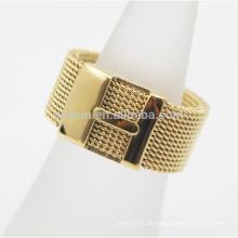 Gemacht in China-Frauen-Mädchen-Edelstahl-Ineinander greifen-Ring mit Buchstabe H