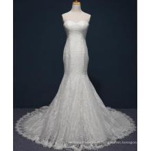 2017 Custom Made Strapless Lace Sereia Vestido De Noiva Nupcial