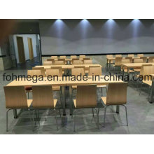 Modern Wood Material Canteen Table Sets for Sale (FOH-CMY66)