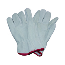 White Cow Split Driver Glove, Safety Work Glove