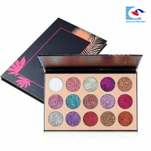 Magnetic giltter color eyeshadow palette with 15 warna