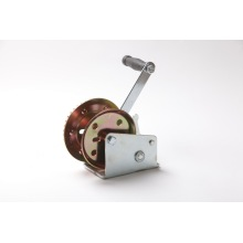2000lbs yellwo zinc galvanized wire rope hand crank winches
