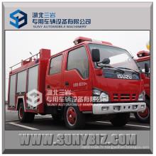Isuzu 600p 120HP 3000L réservoir d'eau camion de pompier