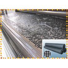 Asfalto de fibra de vidro Geogrid com resistência à tracção 50kn