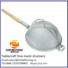 Household and restaurant used solid cooker inserts reinforced mesh pasta sieves tablecraft fine mesh strainers