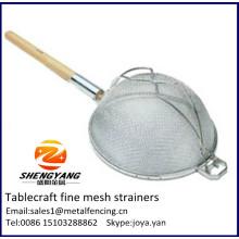 Бытовых и ресторан используется цельная плита вставками сетки, армированной сетки паста tablecraft тонкой сетки ситечко