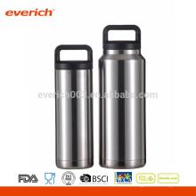 Vacío con aislamiento de acero inoxidable Sudor botella de agua gratis