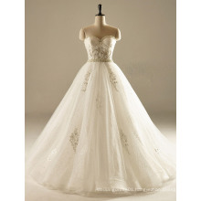 Sweetheart Pearl A Line Sequin Tulle Wedding Gown