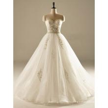 Милая Жемчужина Линии Блесток Тюль Свадебное Платье