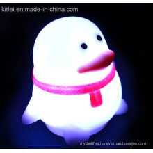 Penguin Plastic Kids Toy Soft PVC Luminous Flash Shining Toy