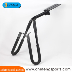 Black Aluminum surfboard moped rack