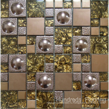 Стеклянная мозаика, металлическая мозаика из нержавеющей стали (SM210)