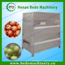 Chine usine d'approvisionnement en acier inoxydable oignons éplucheuse / oignon industriel machine d'épluchage / oignons peau éplucheuse