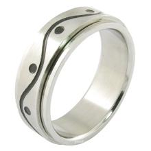 Joyería de acero inoxidable anillo de hombres gay anillo plateado de oro