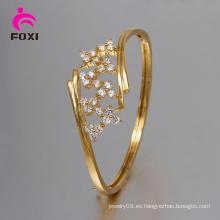 Joyería de moda de la mujer 18k colores de oro CZ brazaletes y pulseras