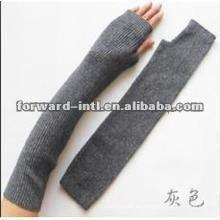 guantes de cachemir de manga larga y medio dedo