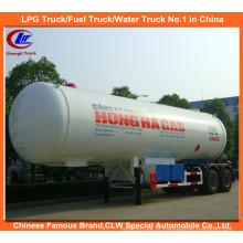 Heavy Duty 2 Eixos ASME Standard Gas LPG Cisterna Semi-reboques 40.5cbm à Venda