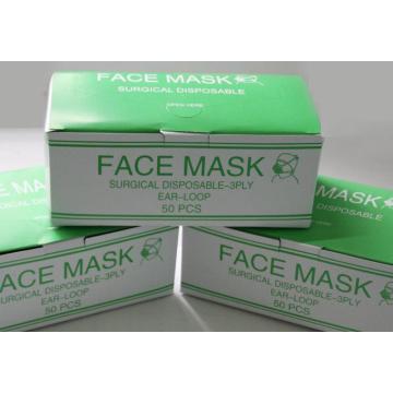 Masque chirurgical prêt à l'emploi fournisseur pour la protection médicale oreille boucle attachée types de cône Kxt-FM25