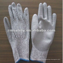 Puncture Proof Gery PU Coated Cut Resistant Glove ZMR408