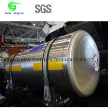2,0MPa Pression de service 210L Volume Cryogenic Insulated Vehicle Cylinder