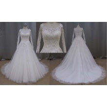 Sweetheart Ball Gown Cream Lace Bridal Wedding Dress