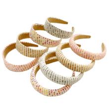 Bandeau Opaska Spring Summer Thick Straw Sponge Colorful Headband Fashion Ladies Hair Bundle Hairband for Women Girl Hair Accessories Wholesale