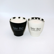 135g paraffin/soy wax scented candle in ceramic cup
