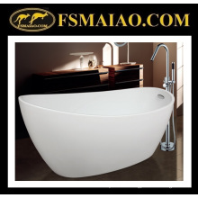 Sanitary Ware Shinning White High-Heeled Acrylic Bathroom Bathtub with Overflow (9012)