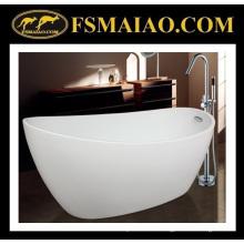 Сантехника, сверкающие белые на высоком каблуке акриловую ванну Ванная комната с переливом (9012)