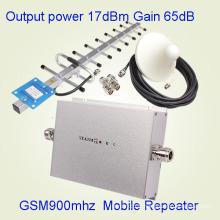 Amplificateur de signal de GSM900 de téléphone portable de GSM 900MHz, amplificateur de répéteur de signal de GSM de téléphone portable + adapteur de puissance