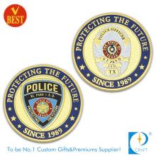 3D de qualidade superior personalizou a polícia de ambos os lados comemorativa ou moeda da lembrança no metal