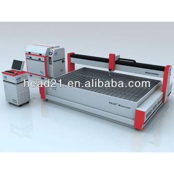 Machine de découpage de jet d'eau avec la table de découpage de 3000mm * 2000mm et la pompe d'intensificateur 380Mpa
