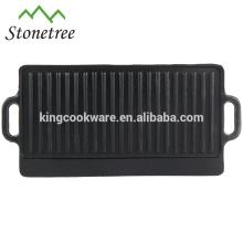 grils de barbecue réversibles de haute qualité en fonte
