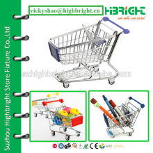 mini model for metal supermarket shopping cart trolley