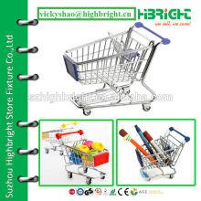 Modelo mini para carrinho de carrinho de compras de supermercado de metal