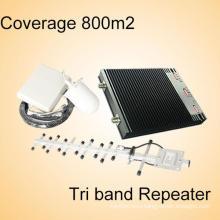 GSM 900 МГц Dcs 1800 МГц WCDMA 2100 МГц трехдиапазонный мобильный усилитель сигнала