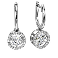 Hot Sales Dancing Diamond Jewelry 925 Silver Stud Earring