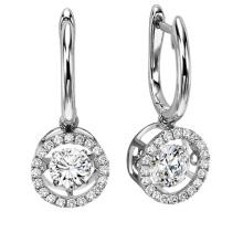 Hot Sales Dancing Diamond Jewelry 925 brinco de prata Stud