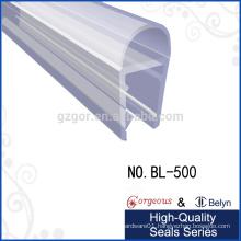 0 degree toughened sliding glass shower rubber door seal