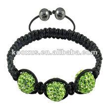 Las pulseras del shamballa de la bola del diamante, tejieron shamballa del regalo de la Navidad de las pulseras del shamballa