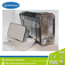 Durable Rectangular Aluminum Foil Food Container with Board Lid