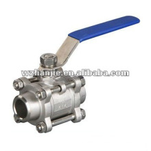"""DN10, 3/8"""" 1000WOG 3PC inox robinet à tournant sphérique"""