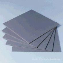 Feuille rigide de PVC Couleur grise