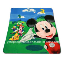 Promotion Children Printed Polar Fleece Travel Blanket