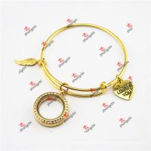 Moda ouro latão Locket encantos braceletes Bangles Braceletes (DEW60226)