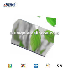 Alusign mirror finish aluminum plastic material