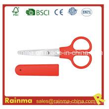 Papelaria vermelha Tesoura com estojo de armazenamento