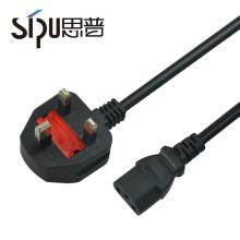 Cordons de haute qualité SIPU brancher 3 broches uk cordon d'alimentation CA pour PC