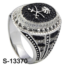 2016 New Model Micro Setting 925 Silver Jewelry Ring for Men (S-13370)